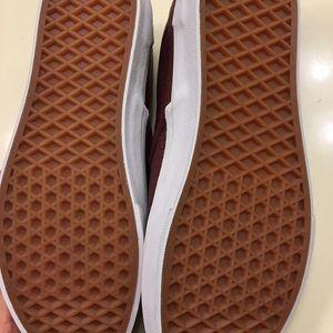 c053b97658f008 Vans Shoes - NWT Vans Burgundy Slip Ons W 8.5 M 7